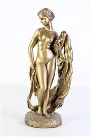 Sale 8931B - Lot 619 - Gilded Figure Of A Nuded Lady H: 32cm