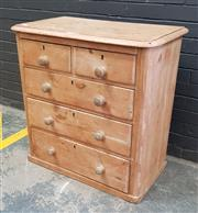 Sale 9048 - Lot 1075A - Victorian Baltic Pine Chest of Five Drawers, with rounded corners & timber knobs (H:87 W:87 D:49cm)