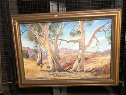 Sale 9147 - Lot 2036 - Mark Budd, Landscape, oil on canvas, 78 x 108 cm, signed lower right