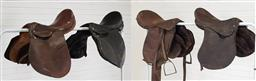 Sale 9240 - Lot 1037 - Collection of leather horse saddles