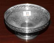 Sale 8088A - Lot 77 - Excellent quality Hardy Brothers silver plate berry bowl with pierced rim