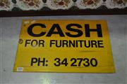 Sale 8117 - Lot 909 - Early Tin Furniture Sign