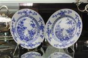 Sale 8189 - Lot 37 - Plum Blossom Blue & White Pair of Export Ware Plates