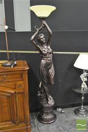 Sale 8284 - Lot 1004 - Large Lady Form Standard Lamp