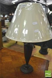 Sale 8418 - Lot 1064 - Pair of Brown French Provincial Table Lamps (5611)