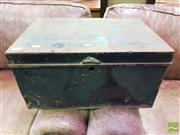 Sale 8447 - Lot 1025 - Black metal Tin Trunk