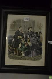 Sale 8578T - Lot 2087 - C19th French Fashion Plate Hand Coloured