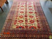 Sale 8593 - Lot 1013 - Antique Turkish Hand Knotted Woollen Rug (350 x 230cm)