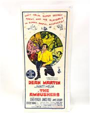 Sale 8732W - Lot 13 - The Ambushes Movie Poster with Dean Martin As Matt Helm ( 35cm x 75cm)