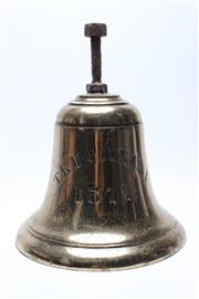 Sale 8733 - Lot 67 - Truganini Brass Ships Bell for the Steam Navigation Company in Hobart