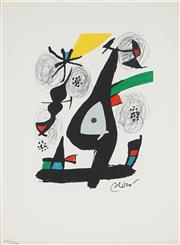 Sale 8907 - Lot 586 - Joan Miro (1893 - 1983) - La Melodie Acide, 1980 32 x 24 cm
