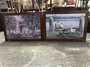Sale 8990 - Lot 2061 - Gordon Hanley (2 works) - Master Builders & Catch of the Day 52 x 79 cm (frame: 63 x 89 x 3 cm) (each)