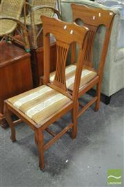 Sale 8289 - Lot 1086 - Set of Four Oak Dining Chairs