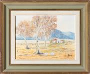 Sale 8525 - Lot 2030 - Artist Unknown - Untitled Australian Rural Vista 14 x 19cm