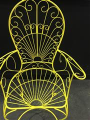 Sale 8380 - Lot 1044 - Pair of Yellow Cafe Chairs