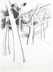 Sale 8466A - Lot 5031 - Anne Hall (1946 - ) (3 works) - Sketches - Trees 101 x 70cm, each (sheet size)