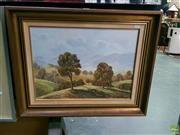 Sale 8582 - Lot 2023 - Noel Wallace, Woodindilly Ranges oil , frame size: 54 x 67cm, signed lower right