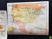 Sale 8625 - Lot 1081 - Vintage Cardboard Backed Double Faced Map of North America (120 x 100cm)