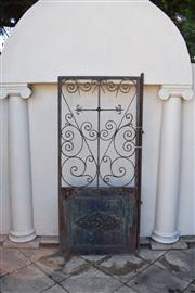 Sale 9087H - Lot 268 - An Antique French wrought iron gate. 2m height, 88cm width