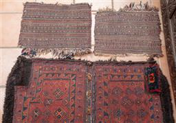 Sale 9120H - Lot 237 - Three East Persian or Afghan rugs including a saddle bag, size of larger 105cm x 107cm