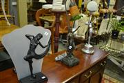 Sale 8093 - Lot 1309 - 3 Varied Figural Table Lamps
