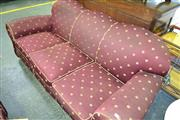 Sale 8115 - Lot 1267 - Club Lounge Setting inc 3 Seater & 2 Armchairs