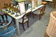 Sale 8129 - Lot 1086 - Modern Glass Top Dining Table
