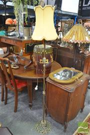 Sale 8277 - Lot 1089 - Brass Base Standard Lamp