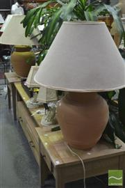 Sale 8289 - Lot 1041 - Pair of Large Ceramic Table Lamps