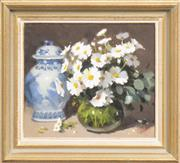 Sale 8301 - Lot 522 - Patricia Moran (1944 - ) - Still Life - Flowers 34.5 x 39.5cm