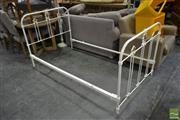 Sale 8499 - Lot 1094 - Antique Metal Bedframe