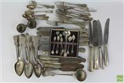Sale 8512 - Lot 7 - Austro-Hungarian Silver Cutlery Together With Stone Insert Teaspoons