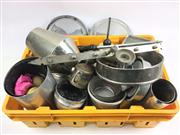 Sale 8539M - Lot 261 - Large Assortment of Tin Props, incl billiard ball stand, magic awl and cage