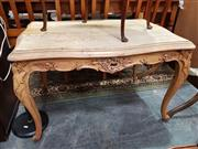 Sale 8843 - Lot 1097 - Heavily Carved Marble Top Occasional Table