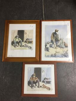 Sale 9152 - Lot 2314 - Lionel Lindsay (3 works), framed facsimile etchings, each facsimile signed, one with COA.