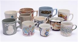 Sale 9185E - Lot 163 - A collection of ceramic mugs including transfer printed examples