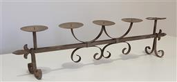 Sale 9188 - Lot 1335 - Wrought iron candle holder (w:81cm) -