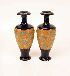 Sale 7311 - Lot 131 - A PAIR OF DOULTON & SLATER'S PATENT STONEWARE VASES