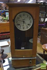Sale 8310 - Lot 1061 - Simplex Vintage Bundy Clock