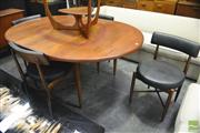 Sale 8364 - Lot 1012 - G-Plan Teak Round Extending Table and Four Chairs