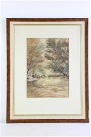 Sale 8852 - Lot 8 - Framed Watercolour By Howard Joseland (Fly Fisherman) (60cm x 47cm)