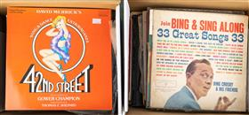 Sale 9195H - Lot 82 - A record collection to include 42nd Street and other shows plus assorted classical and 45 rpms.