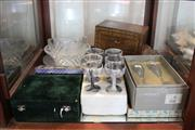 Sale 8189 - Lot 184 - Orrefors Pair of Wine Glasses with Other Crystal & Glass incl Kosta