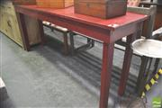 Sale 8302 - Lot 1036 - Red Painted Timber Hall Table