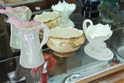 Sale 8330T - Lot 134 - Royal Worcester Blanc de Chine Shell Comport with Other Royal Worcester Wares incl. a Jug