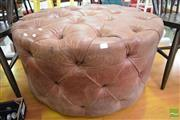 Sale 8532 - Lot 1313 - Brown Buttoned Ottoman