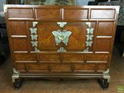Sale 8649R - Lot 194 - Korean Timber Chest with Two Doors to Front (H: 83 W: 95 D: 43cm)