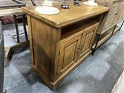 Sale 8896 - Lot 1052 - Timber Two Door Entertainment Unit