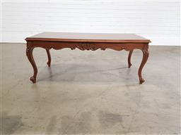 Sale 9255 - Lot 1219 - Timber French style coffee table (h:46 x w:115 x d:56cm)