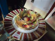 Sale 7982 - Lot 39 - Paragon Trio Hand Painted with Fruit A Holland (cup a.f)